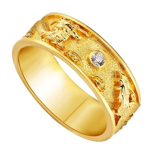 Nhẫn nam bằng vàng nguyên chất